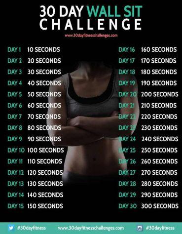 wall-sit challenge