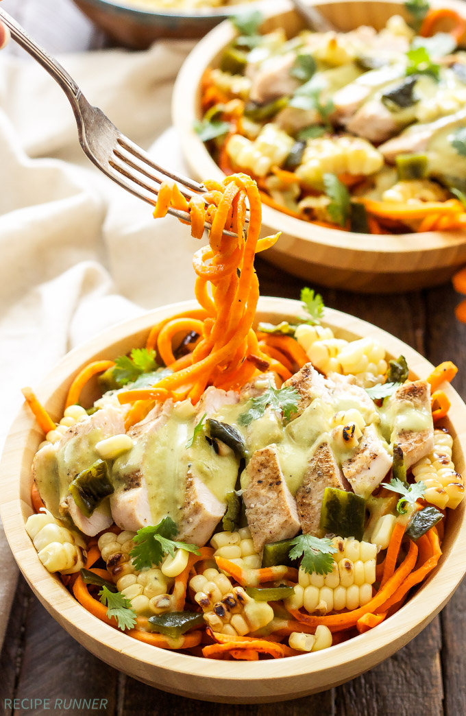 sweet-potato-noodles-with-grilled-chicken-and-creamy-poblano-sauce