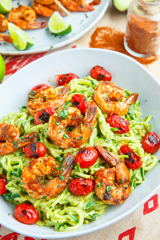 creamy-avocado-zucchini-noodle-pasta-with-taco-lime-grilled-shrimp-800-6721